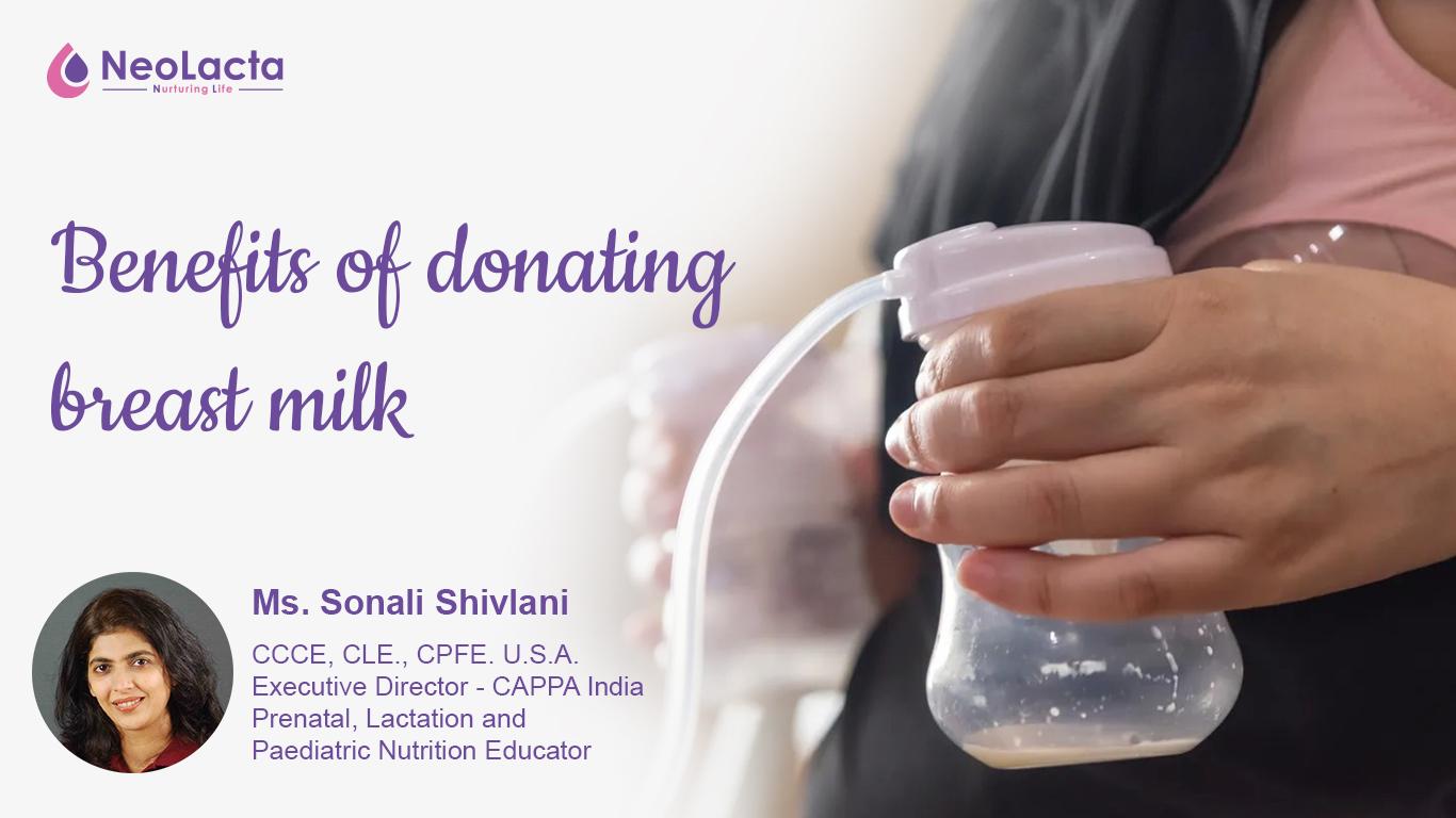 Benefits of donating breast milk