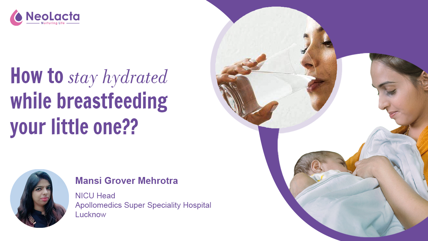 How to stay hydrated while breastfeeding your little one?